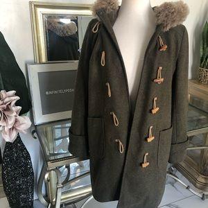 J. Crew Hooded Toggle Jacket Coat